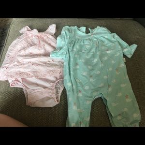 GAP One Pieces - 6m Baby Gap Bodysuit and long pant bodysuit